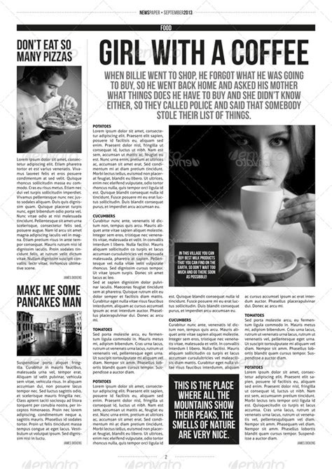 indesign modern newspaper magazine template   zigazi