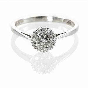 Diamond rings cluster wedding promise diamond for Cluster wedding rings