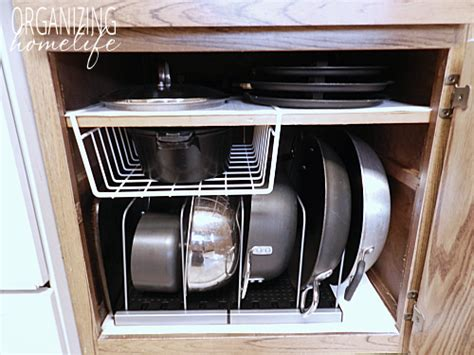 organize kitchen pots and pans diy knock organization for pots pans how to 7217