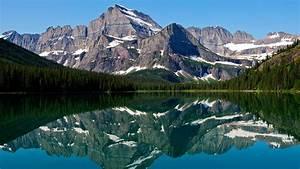 mountain, lake, reflections, wallpapers