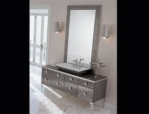high end bathroom vanity cabinets milldue majestic 15 silver aligator veneer high end