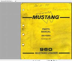 Mustang 960 Skid Steer Loader Parts Manual