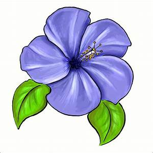 Violet Flower Drawing - ClipArt Best