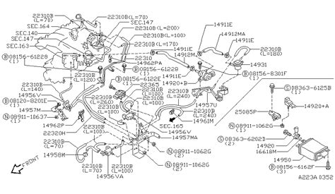 2006 Nissan Pathfinder Engine Diagram by 08156 6122e Genuine Nissan 081566122e Bolt Hex