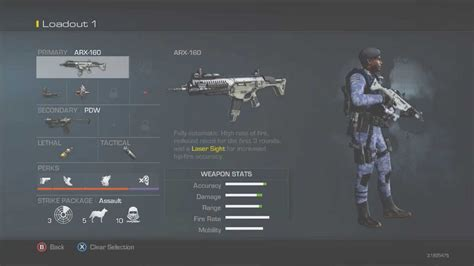 cod smg ar ghosts class snd competitive