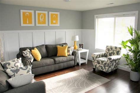 stylish grey  yellow living room decor ideas digsdigs