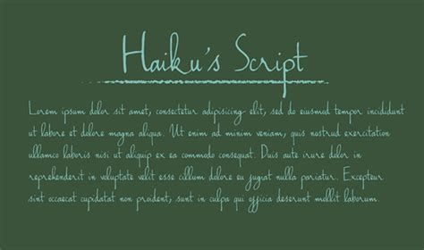 And remember that a modern. Handwriting - Haiku's Script Font on Behance