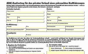 Kaufvertrag Kfz Adac Rnk Adac Kaufvertrag F R Priv Verkauf