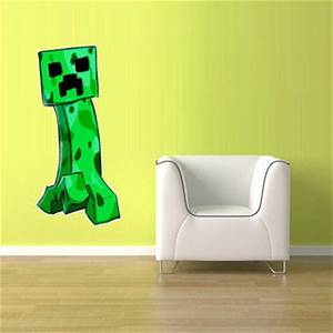 Wall decal awesome minecraft vinyl wall decals 3d for Awesome minecraft vinyl wall decals
