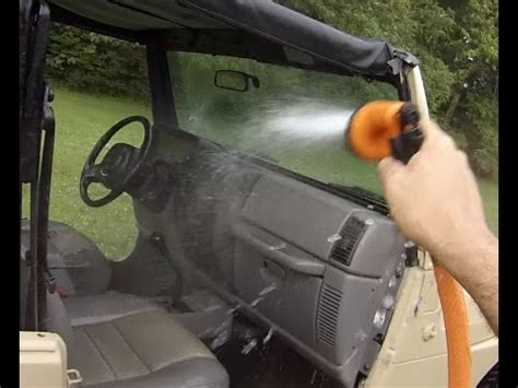 How To Wash A Jeep Wrangler Inside And Out Youtube