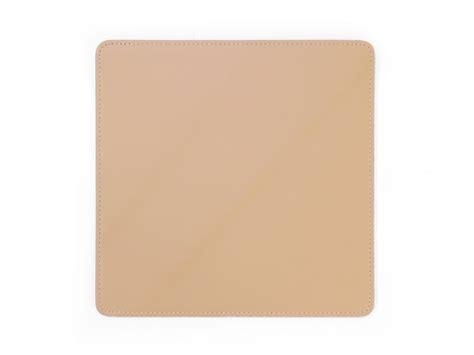 tapis souris en cuir beige