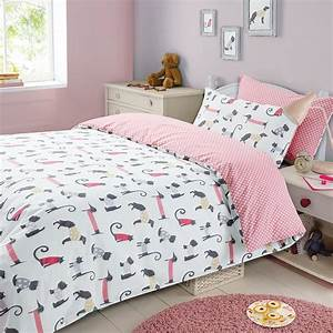 childrens duvet cover with pillowcase bedding set cat With dog bedroom set