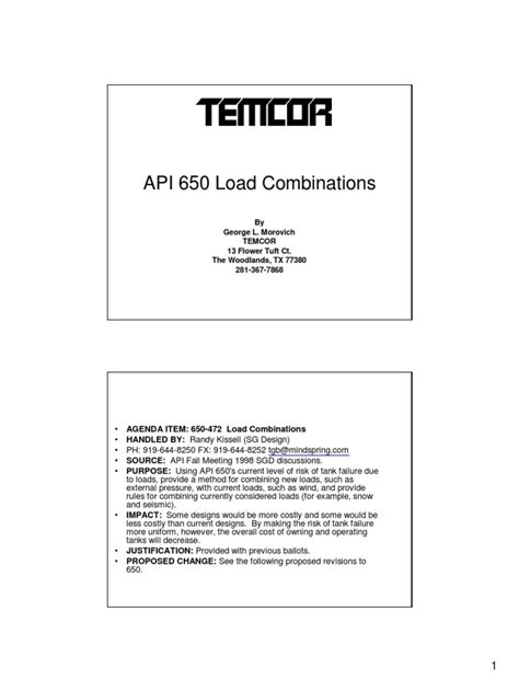 API 650 Load Combinations | Wind Speed | Structural Load