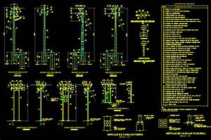 Electricity Details - Electric Pole DWG Detail for AutoCAD