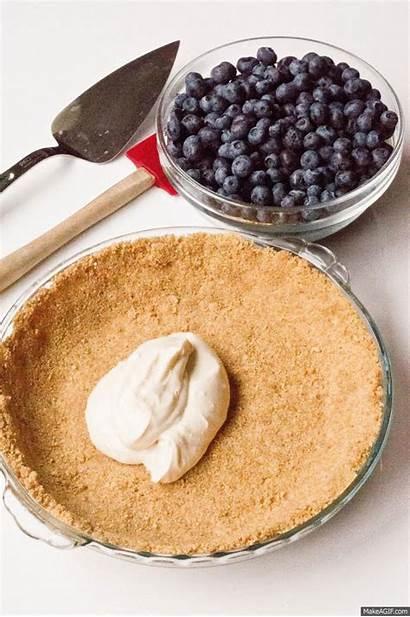 Pie Bake Blueberry Cream Filling Fruit Makeagif