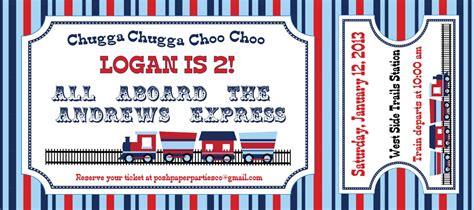 Train Tickets Birthday Invitations  Best Party Ideas