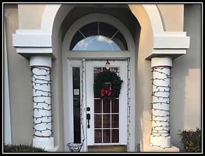 How, To, Hang, Christmas, Lights, On, Columns, Without, Wrapping, Them
