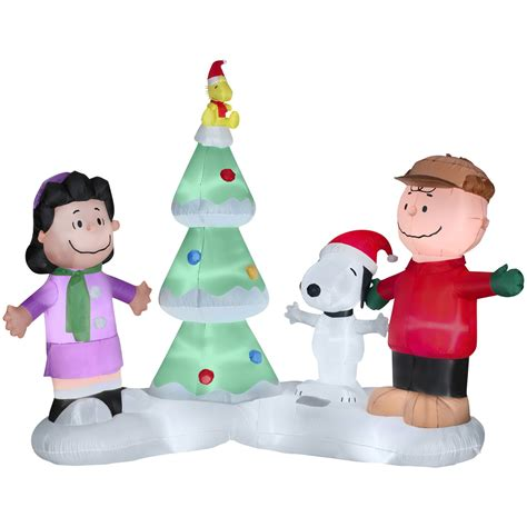 peanuts by schulz 6 5ft lighted musical christmas airblown