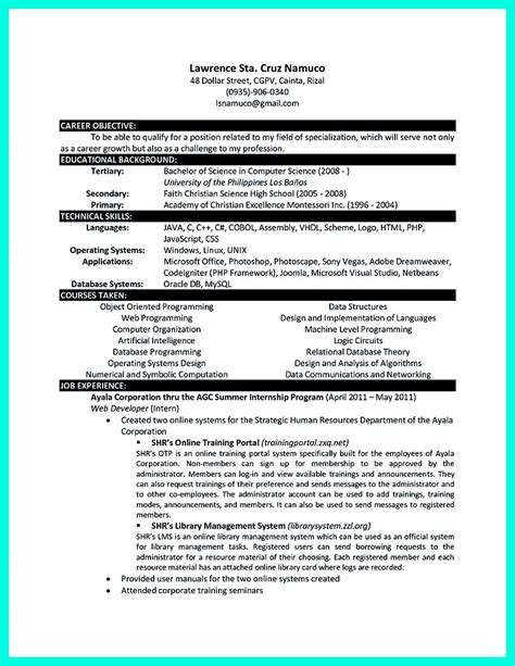 the best computer science resume sle collection