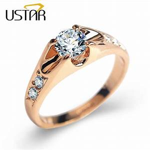 top quality austria crystals wedding rings for women rose With rose gold wedding rings for women