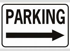 Parking Arrow Right Horizontal SignXing