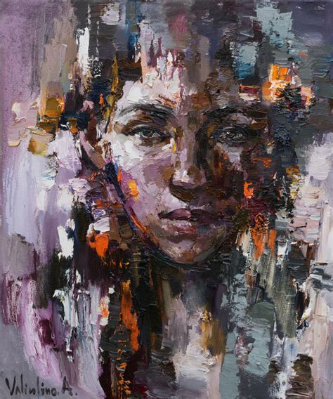 Abstract Black Portrait Painting by Abstract Portrait Original Painting Painting