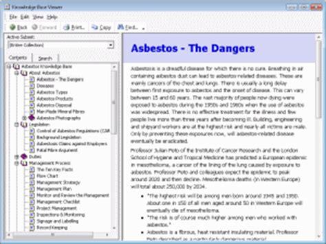 asbestos toolkit cs features management software