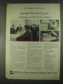 1967 Merrill Lynch Ad - Manage Your Next Issue?