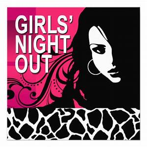 Cool Girls Night Out Party (fuschia) 5.25x5.25 Square ...