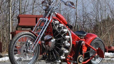 motorrad mit 3 räder irres motorrad mit flugzeugmotor