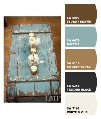 like this shade of blue with brown paint colors from chip it by sherwin williams