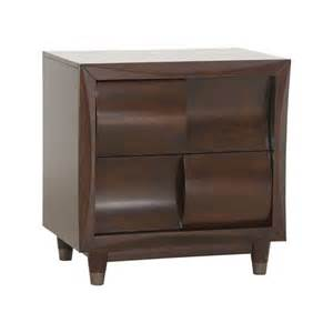 harmony storage bedroom collection nightstand in black cherry