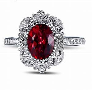 Vintage 150 carat ruby and diamond engagement ring in for Wedding rings with rubies and diamonds