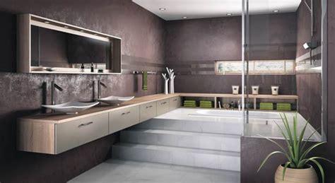 une estrade pour structurer l espace dans la salle de bains