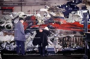 Accident Investigators Reconstructing An Aircraft  Crash