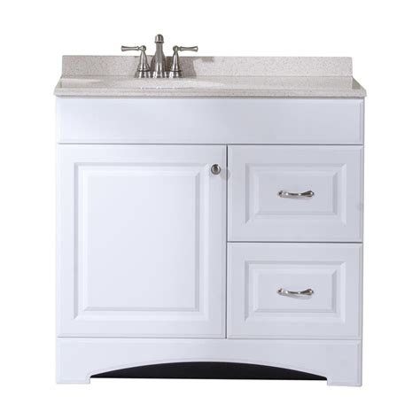 shop style selections almeta white integral single sink