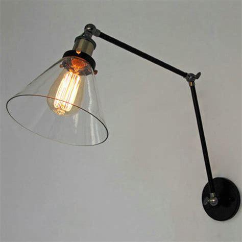 Retro Industrial Lighting Loft Swing Arm Wall Sconce Home