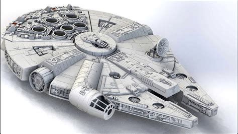 3D Printing the Millennium Falcon on Robo 3D R1 Plus - YouTube