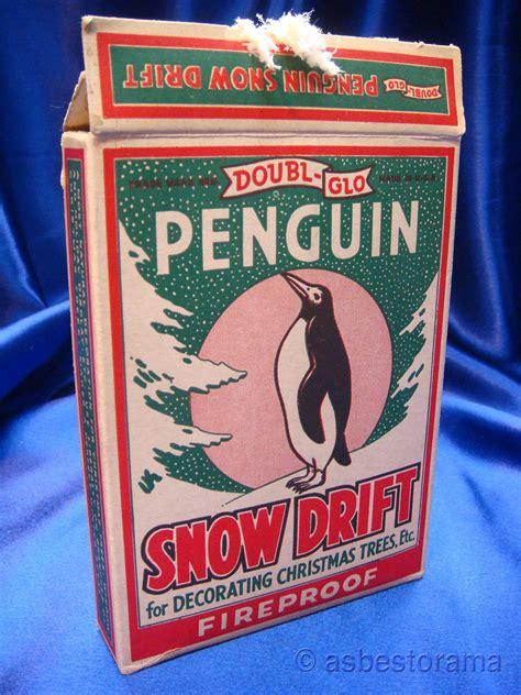 penguin fireproof asbestos snow doubl glo brand vintage