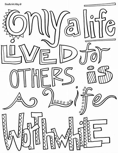 Coloring Doodle Pages Quote Alley Quotes Kindness