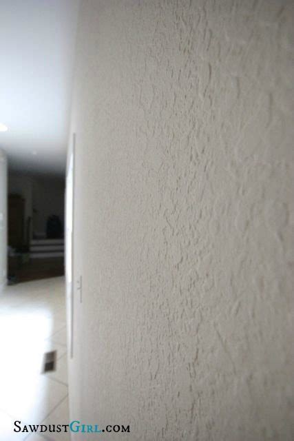 skim coat  remove wall texture sawdust girl