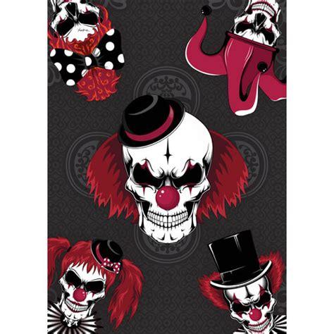 Clowns Skulls Halloween A3 Poster PVC Party Sign ...