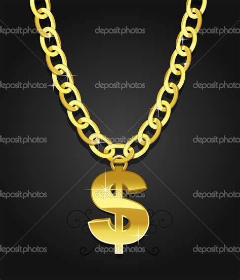 gold chain vector images vector gold chain necklace