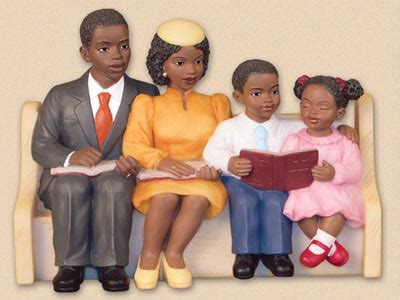niyaecom happy family church pew collection figurine