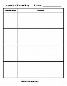 anecdotal assessment notes on pinterest anecdotal With anecdotal assessment template