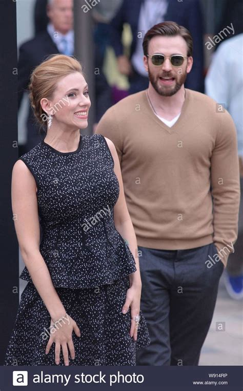 American actress Scarlett Johansson, left, and actor Chris ...