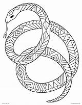 Coloring Snake Adult Sunset Animal Animals Tribal Drawing Printable Mamba Adults Getcolorings Outstanding Ninjago Coiled Sunsets Decorative Colors Colorings Getdrawings sketch template