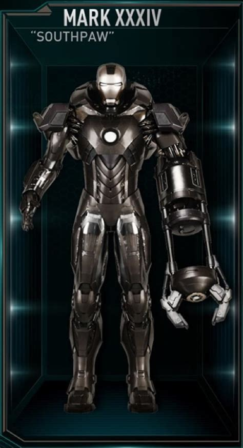 iron man armor mark xxxiv marvel cinematic universe