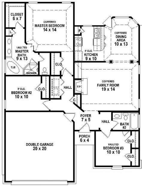 3 home plans 3 bedroom 3 bath house plans home planning ideas 2018