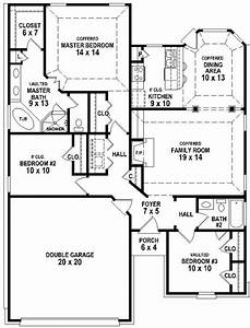 100 3 Bedroom 2 Bath 100 3 Bedroom Small House Plans